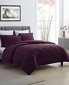 Fleece and Microfiber Reversible Full/Queen Comforter Set