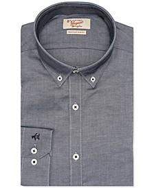 Men's Heritage Slim-Fit Performance Stretch Black Solid Dress Shirt