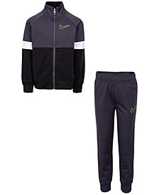 Little Boys 2-Pc. Colorblocked Tricot Track Jacket & Pants Set