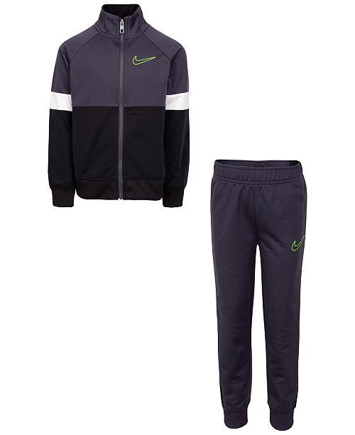 Nike Toddler Boys 2-Pc. Colorblocked Tricot Track Jacket & Pants Set