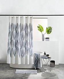 Brushstroke Ombre Shower Curtain