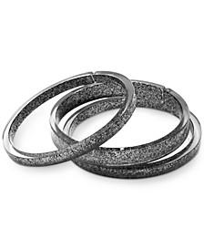 3-Pc. Set Glitter Resin Bangle Bracelets