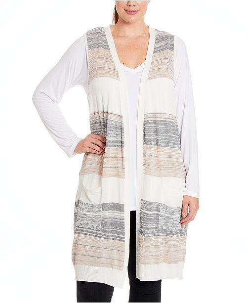 Joseph A Plus Size Striped Vest
