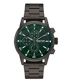 Men's Gunmetal Metal Bracelet Sport Watch, 46mm