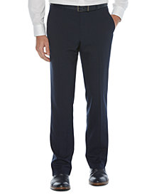 Perry Ellis Portfolio Men's Modern-Fit Non-Iron Performance Stretch Textured Check Dress Pants