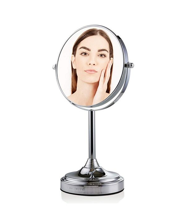 """OVENTE Tabletop Dual Sided 7"""" Makeup Mirror with LED"""
