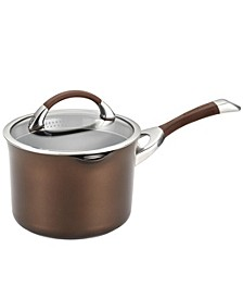 Symmetry Chocolate Hard-Anodized Non-Stick 3.5-Qt. Straining Saucepan & Lid