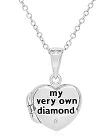 Children's Diamond Accent Locket in Sterling Silver