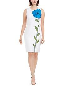 Single Flower Sheath Dress