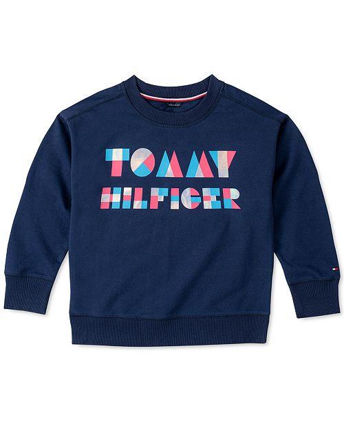 Tommy Hilfiger Toddler Girls Logo Sweatshirt