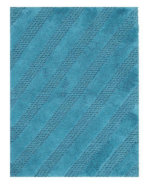 "Perthshire Platinum Collection Diagonal Honeycomb 17"" x 24"" Bath Rug"