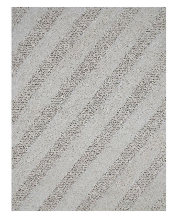 "Perthshire Platinum Collection - Diagonal Honeycomb 21"" x 34"" Bath Rug"