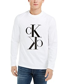 Calvin Klein Men's Reflection Long-Sleeve Logo T-Shirt