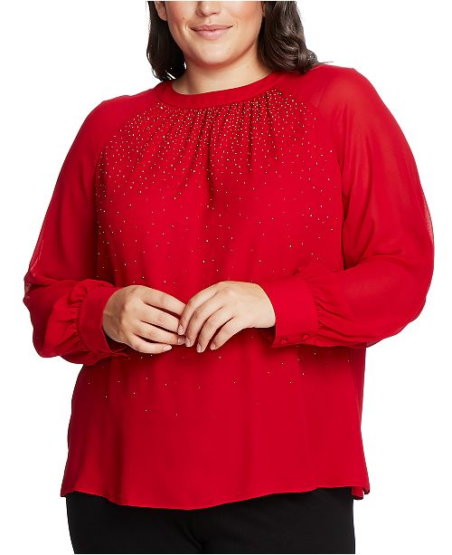 Vince Camuto Plus Size Embellished Top