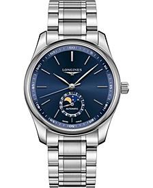 Men's Swiss Automatic Master Stainless Steel Bracelet Watch 40mm