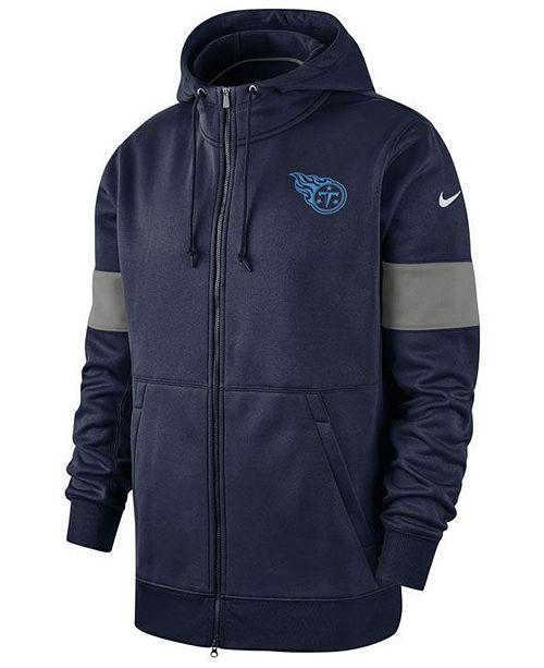 Nike Men's Tennessee Titans Sideline Full-Zip Therma Hoodie