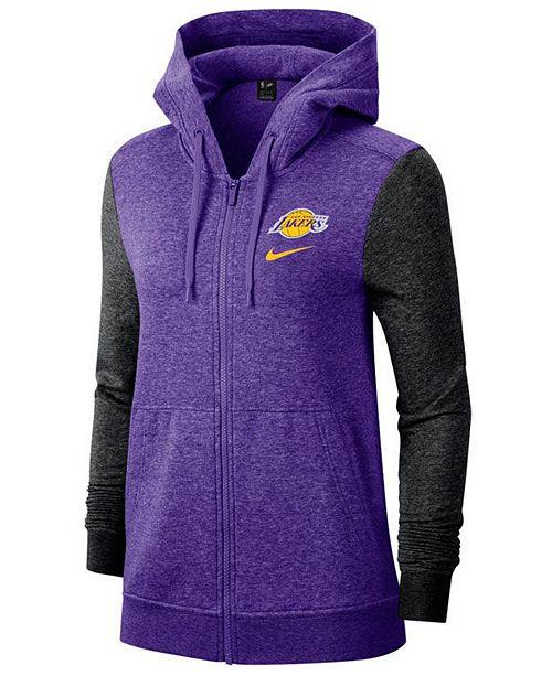 Nike Women's Los Angeles Lakers Full-Zip Club Fleece Jacket