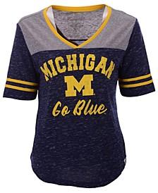 Women's Michigan Wolverines Mr Big V-neck T-Shirt