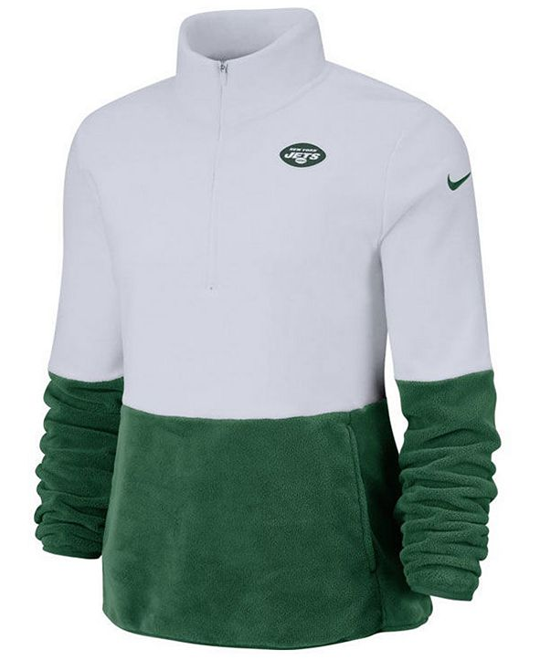 Nike Women's New York Jets Half-Zip Therma Fleece Pullover