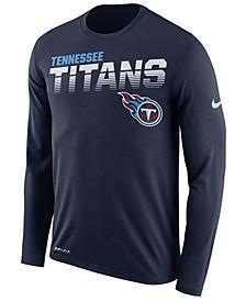 Men's Tennessee Titans Sideline Legend Line of Scrimmage Long Sleeve T-Shirt