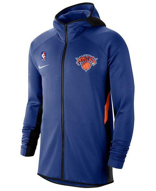 Nike Men's New York Knicks Thermaflex Showtime Full-Zip Hoodie