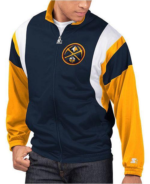 Starter Men's Denver Nuggets The Contender Track Jacket