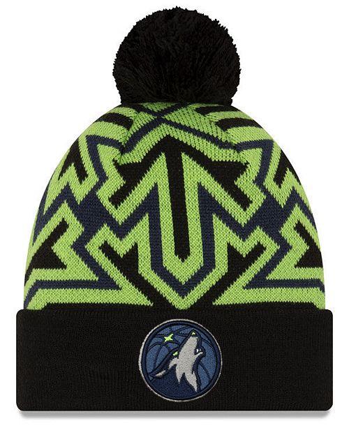 New Era Minnesota Timberwolves Big Flake Pom Knit Hat Reviews