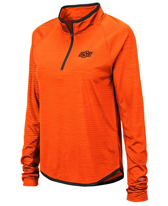 Colosseum Women's Oklahoma State Cowboys Soulmate Quarter-Zip Pullover