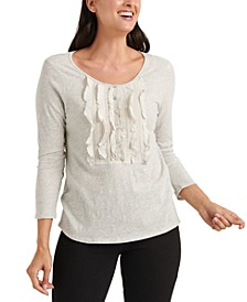 Ruffled-Bib Top