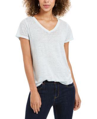 New Basic House Women/'s Blue Top Scoop Neck Casual Short Sleeve Shirt Sz Medium