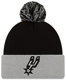 San Antonio Spurs Black Pop Knit Hat
