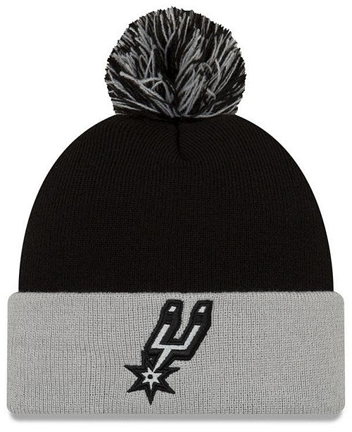New Era San Antonio Spurs Black Pop Knit Hat