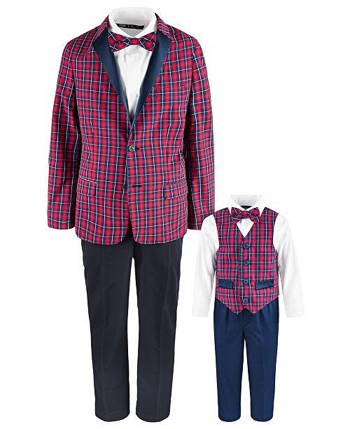 Nautica & Tommy Hilfiger Tartan Suit Separates & Vest Sets