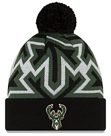 Milwaukee Bucks Big Flake Pom Knit Hat