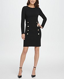 Double Breasted Skirt Sheath Dress