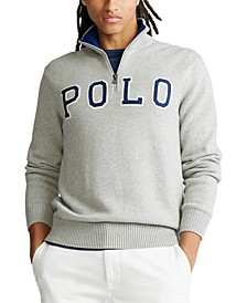Men's Big & Tall Polo Logo Quarter-Zip Sweater