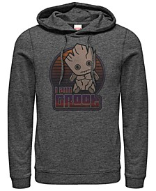 Men's Guardians of the Galaxy Kawaii I am Groot, Pullover Hoodie