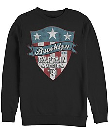 Men's Classic Captain America Brooklyn Badge, Crewneck Fleece