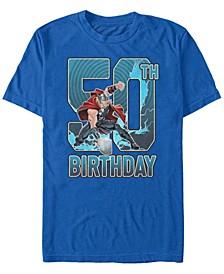Fifth Sun Men's Thor 50th Birthday Short Sleeve T-Shirt