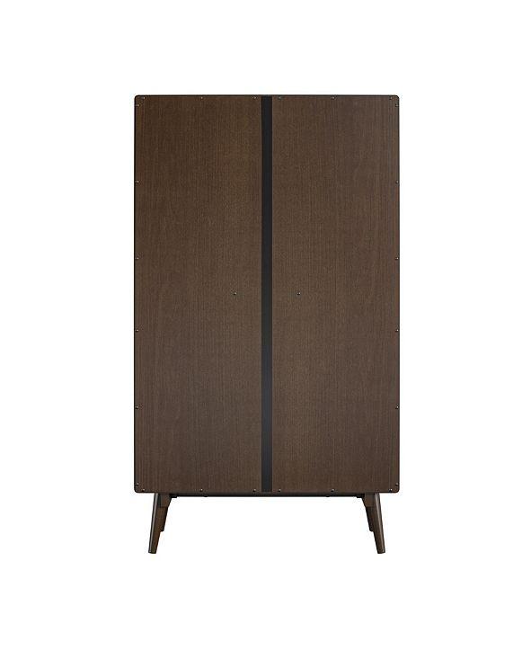 Novogratz Brittany 4-Shelf Bookcase