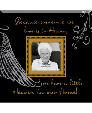 """Dexsa Because Someone We Love Beveled Glass Photo Frame with Easel, 12"""" x 12"""""""