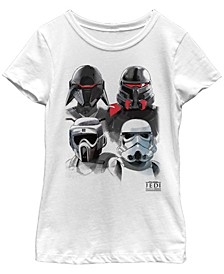 Big Girls Jedi Fallen Order Trooper Helmets Short Sleeve T-Shirt