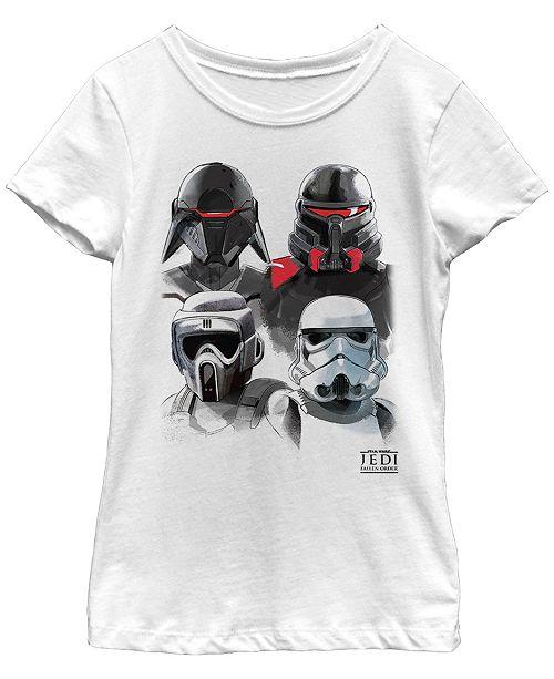 Star Wars Big Girls Jedi Fallen Order Trooper Helmets Short Sleeve T-Shirt