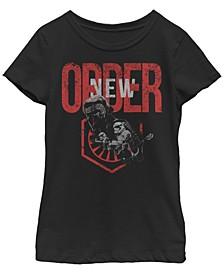 Big Girls Kylo Ren New Order Short Sleeve T-Shirt