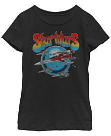 Big Girls Episode 9 Retro X-Wing Fighter Short Sleeve T-Shirt