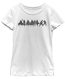 Big Girls Kylo Ren New Order Lineup Short Sleeve T-Shirt