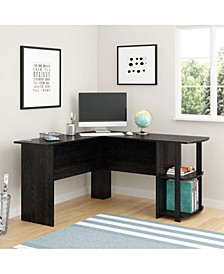 Dakota L-Shaped Desk with Bookshelves