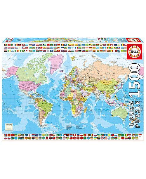 Educa Political Worldmap - 1500 Piece