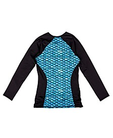 Long Sleeve Scale-Print Rash Guard