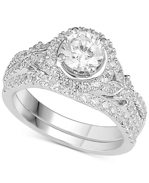 Macy's Diamond Bridal Set (1-1/2 ct. t.w.) in 14k White Gold